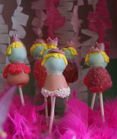 Princess cake pops....I want some.Lol.