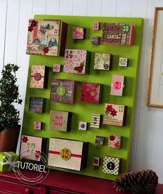 Calendrier de l'avent DIY : encore des boîtes