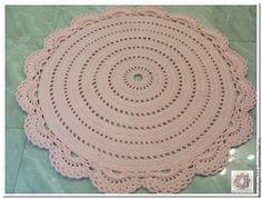 Купить или заказать Овальный ковер ручной работы вязаный из шнура Весна в…