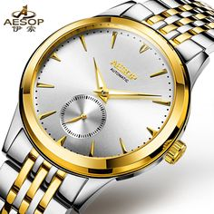 69.99$  Watch here - http://aipty.worlditems.win/all/product.php?id=32780849324 - AESOP 9031 Switzerland watches men luxury brand metropolis gentleman genuine automatic mechanical watch white relogio masculino