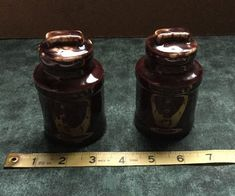 Fantastical Bird Salt And Pepper Shakers. Salt  Pepper Shakers Ceramic Jug Jar Crock Brown Ship Vintage Pre World War II fantasy Birds salt pepper shakers