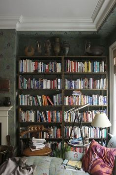 "anotherboheminan: ""salon - bibliothèque | WILLIAM ABRANOWICZ """
