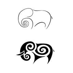 elephant tattoo @Anna Helgadottir Mohan @Sherri Volf Mohan