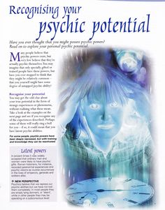Divination: Recognizing Your #Psychic Potential. ☾☆ ☽* ° ♥ ˚ℒℴѵℯ cjf