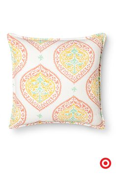Humongous paisleys, a modern take on the classic medallion print, ornament this Threshold pillow. Use it to add a colorful surprise to your room.