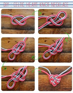 DIY: Celtic Heart Knot Necklace. Instead of wearing it, I'm envisioning using it as more of a decoration (e.g. for scrapbooking).