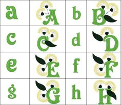 """""""Alphabet 03"""" +FREE Sample! Is all about dandelions! Complete with both lowercase, and a fancy uppercase, this fun #machineembroidery font offers an an organic feel! Send your messages out like wishes!"""