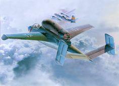 Heinkel He 162 Salamander by Shigeo Koike