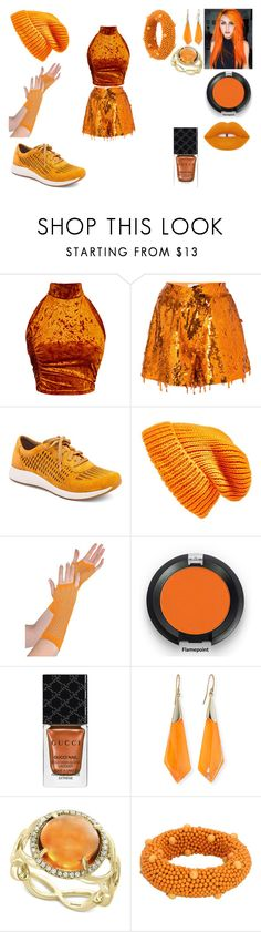 """Orange You Glad I'm Back!"" by siamesegeneral on Polyvore featuring Monse, Dansko, Topshop, Lime Crime, Gucci, Alexis Bittar, Effy Jewelry and Aquilano.Rimondi"