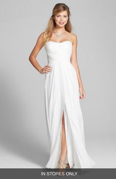 BLISS Monique Lhuillier BLISS Monique Lhuillier Cross Draped Silk Chiffon Dress (In Stores Only) available at #Nordstrom