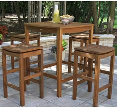 Shop a great selection of Mallie 5 Piece Bar Height Dining Set Beachcrest Home. Find new offer and Similar products for Mallie 5 Piece Bar Height Dining Set Beachcrest Home. Outdoor Bar Height Table, Outdoor Dining Set, Patio Dining, Outdoor Tables, Outdoor Spaces, Dining Table, Outdoor Patios, Outdoor Living, Patio Bar Set