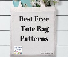 Best Free Tote Bag Patterns: 60 of Our Favorites! Wallet Pattern, Tote Pattern, Purse Patterns, Sewing Patterns Free, Free Sewing, Easy Tote Bag Pattern Free, Skirt Patterns, Sewing Blogs, Sewing Hacks