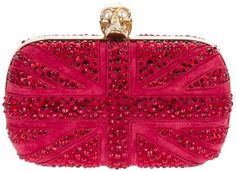 ALEXANDER MCQUEEN Crystal studded clutch on bagservant.co.uk