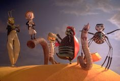 'James and the Giant Peach' the 1996 British-American musical fantasy film directed by Henry Selick, based on the 1961 novel of the same name by Roald Dahl. Produced by Tim Burton and Denise Di Novi. Skyfall, Albedo, Walt Disney, Disney Wiki, James And Giant Peach, James And The Giant Peach Costume, Roald Dahl Books, Disney Movies To Watch, Reservoir Dogs