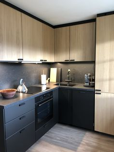 Home decoration is one of the most important elements that help you to define the… Modern Kitchen Cabinets, Wooden Kitchen, Ikea Kitchen, Kitchen Furniture, Kitchen Wall Colors, Kitchen Room Design, Home Room Design, Small House Interior Design, Interior Design Kitchen