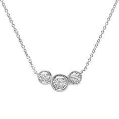 Idea to remake Teh's ring into a bezel-set three stone diamond necklace.