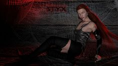Styx fantasy wallpaper entitled Black Widow Styx from 3D Poetry