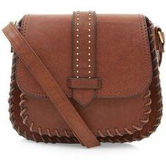 Brown Tab Pocket Front Saddle Bag