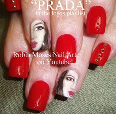 PRADA nail art by Robin Moses