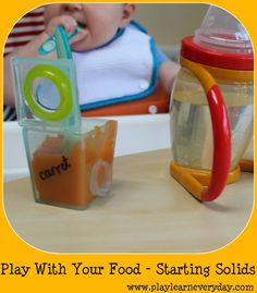 Play and Learn Everyday - Play With Your Food - Starting Solids - Weaning