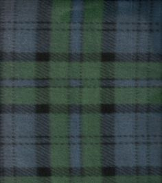 Blizzard Fleece Fabric Deep Navy Plaid