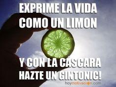 exprime la vida como un limón