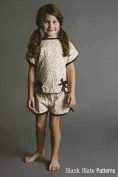 56f8aec7f9eb Sweet Pea Pajamas - Summer Pajamas Sewing Pattern by Blank Slate Patterns  Girls Sleepwear
