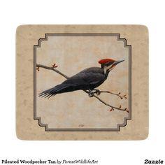 Pileated Woodpecker Tan Cutting Boards