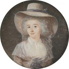 Entourage de Charles Paul Jérôme de BREA (1740 - 1820), vers 1785,  Jeune femme