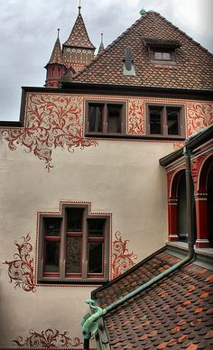 I love this house but I never got a good picture like this one  Basel, Switzerland