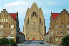 Absolutely insane Grundtvig Church, northwest of Copenhagen.