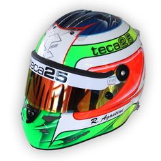 #Teca25 helmet by #Schuberth for #Riccardo #Agostini - 3/4 view