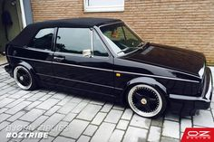 OZ Futura on a Golf MK1 Cabrio, a very Vintage set. Do you agree? #OZTribe