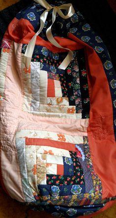 """sac patchwork linge ou jouets style folk bohême """"Aurore"""" cadeau Noël : Accessoires de maison par princesse-aglae"""