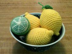 Crochet Amigurumi Lemons and a Lime Still Life by SugarPopCrochet, $28.00