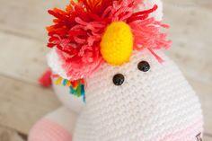 Rainbow Cuddles Crochet Unicorn Pattern