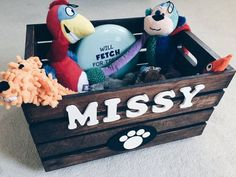Doggy Toy Box personalized Pet Storage Dog Toy by DoggyCrates