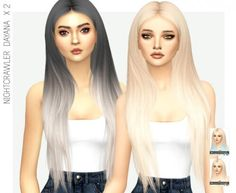 Miss Paraply - Nightcrawler's Dayana hair recolor for The Sims 4