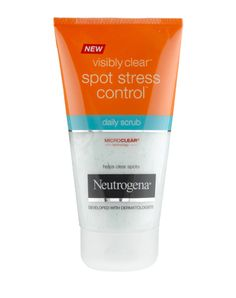 VISIBLY CLEAR® Spot Stress Control Daily Scrub | Neutrogena tai muu rasvoittuvalle iholle tarkoitettu kuorintavoide.