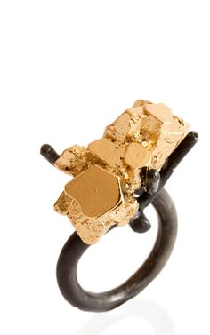 """Insieme"" / ring / silver and brass with a 24 Kt Gold plate / 2012 / unique piece"