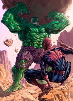 I remember this confrontation early in Spider Man Comics when Spidey met the Hulk in the desert.