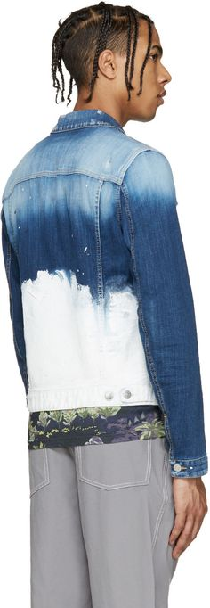 Dsquared2 - Blue Painted Denim Jacket