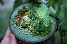 embroidered moss by Emma Mattson