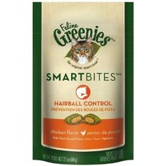 Greenies Feline SMARTBITES Hairball Control Chicken 2.1oz - 6 Pack >>> You can get additional details at the image link.