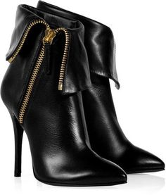 Giuseppe Zanotti Fold Over Zip Ankle Boots