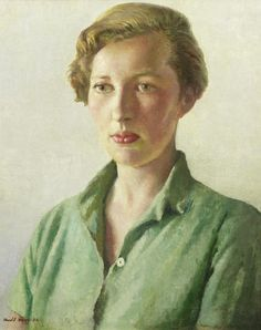 Harold Harvey (British, 1874-1941) Portrait of Sue Palmer