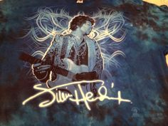 Jimi Hendrix Men's Blue Tie-Dye Graphic T-Shirt. Licensed. Size 2XL #Delta #GraphicTee