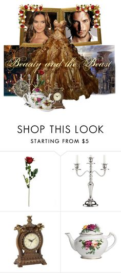 """""""Beauty and the Beast"""" by amberbel ❤ liked on Polyvore featuring Leeber Limited and Royal Albert"""