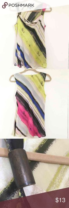 """Chaus Silky Sleeveless Tunic Blouse In excellent pre-owned condition Listing is for Chaus sleeveless summer silky top Size: 6 (small) Fit: true to size And as always, and with this purchase as well, you get to pick a free gift from my closet. You can choose any listing titled """"free gift"""" Chaus Tops Tank Tops"""
