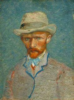 Vincent van Gogh: The Paintings (Self-Portrait with Grey Felt Hat). Paris, Spring 1887. Oil on cardboard. Van Gogh Museum, Amsterdam.